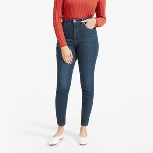 Everlane | High rise skinny in dark indigo size 26